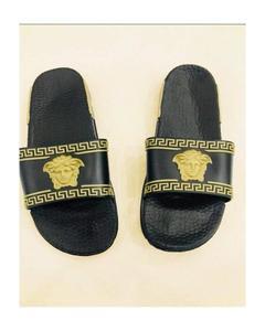 Black Colors Branded Slippers For Man-127