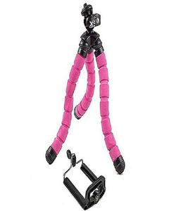 Flexible Tripod With Mobile Holder - Pink