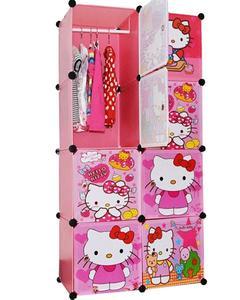 8 Cubic Hanging & Storage Cabinet & Wardrobe - Hello Kitty