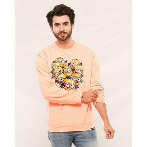 Styleo Minions Printed Sweat t-shirt for men