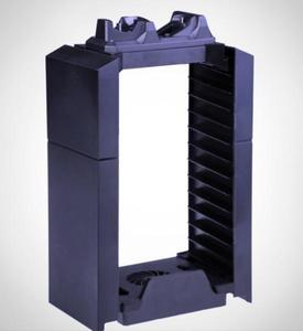 PS4 Console Cooler With Game Disk Storage Tower