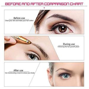 Eyebrows Remover Trimmer Razor Shaver Electric Facial Hair Remover, Hair Remover Brows Best Eyebrow Trimmer, PerfectoStore Women's Painless Hair Remover