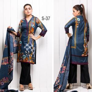 Sahil Printed Collection Winter Cotton Unstitched Suit - 3 Piece Volume-1