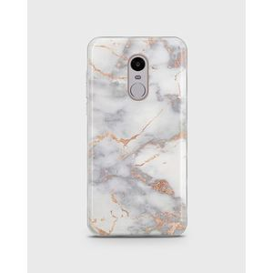 Xiaomi Redmi Note 4 Soft Cover in WHITE AND GOLDEN MARBLE -1cover6