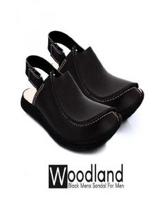 Black Peshawari Sandals for Men