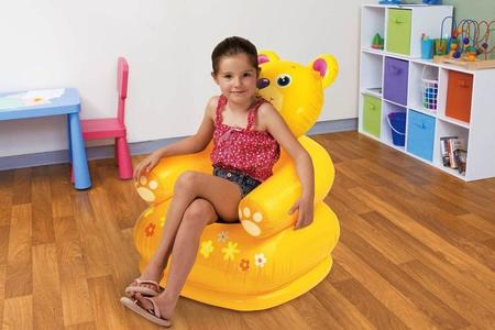 Intex Plastic Inflatable Happy Animal Chair Assortment Children Air Sofa-Yellow