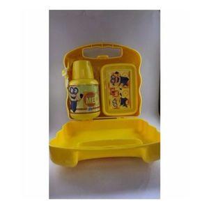Despicable Me2 Minion Cartoon Combo Case Designable School Lunch Box Plus Water Bottle-Yellow