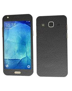 Samsung Galaxy J7 2015 Black Common Leather Texture Mobile Skin