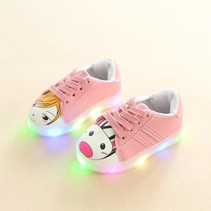 Perfect Meet Princess shoes Children Baby Girls Boys Cartoon Led Light Luminous Running Sport Sneaker Shoes