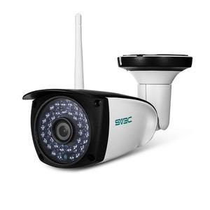 SV - B06W - 1080P 1080P 1.3MP WiFi Camera Wireless Outdoor Security Surveillance CCTV Night Vision / P2P / Motion Detection US Plug - White + Black