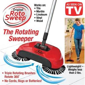 SHOP.INN Sweep Drag All - In - One No Electricity Spin Broom Vacuum Cleaner