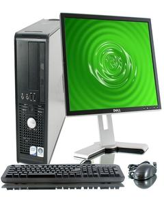 OptiPlex 780/380 USFF Desktop Intel Core 2 Duo 3.0 GHz 2 GB RAM 160 GB HD DVD Win 7 Pro 64-Bit + Dell 17 inc Lcd +Dell Mouse & Keyboard - Black