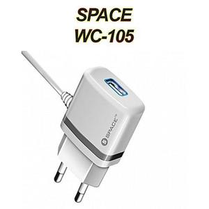 Charger for Mobile With Cable Android WC-105- White