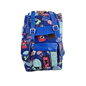 "Asaan Parhai Modish Backpack School Bag Notebook Bag Laptop Bag Travel Bag for School and College - 15x17"" - Blue"