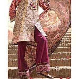 AlmirahPink LAWN 3pcs Unstitched Suit for Women