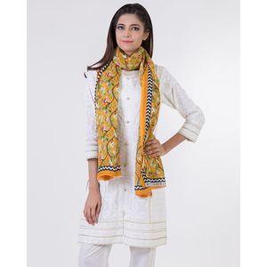 Bonanza | Satrangi Yellow Polyester Ladies Scarf