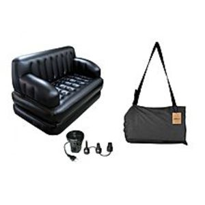 PK Bazaar 5 in 1 Inflatable Sofa Come Bed With Electric Pump & Bag