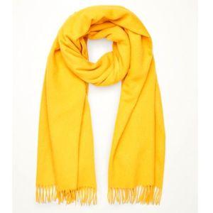 Yellow Wool Muffler For Men
