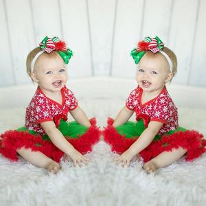 Christmas Trees Toddler Newborn Baby Girls Tutu Dress Rompers Jumpsuit Outfits