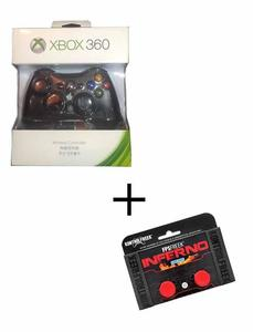 Xbox Wireless Controller For Xbox360 Plus Analog Extender - Black And Red
