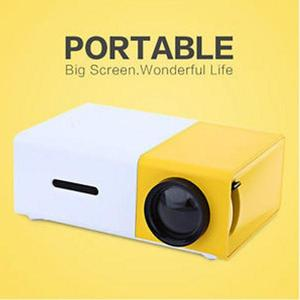 YG-300 LCD LED Projector 400-600 Lumens 320x240 800:1 Support 1080P Portable Office Home Cinema (N)