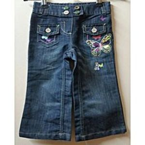 ELEGANT CLOTHING Dark Blue Jeans 2 Pockets On Front For Girls