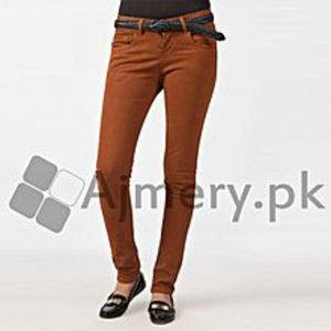 The Ajmery Women's Brown Cotton Chinos. FS-803