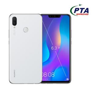 "Huawei Nova 3I - 6.3"" Display - 4Gb Ram - 128Gb Rom - Android 8.1 - 16Mp - 3340Mah -  Pearl White"