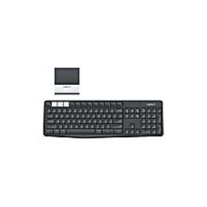 Logitech K375s - Multi-Device Wireless Keyboard and Phone Stand Combo - Grey