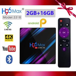 New H96 Max 3318 Smart TV Box 2GB RAM 16GB ROM Android 9.0 RK3318 4K 2.4G/5G Wifi Bluetooth Streaming Media Player