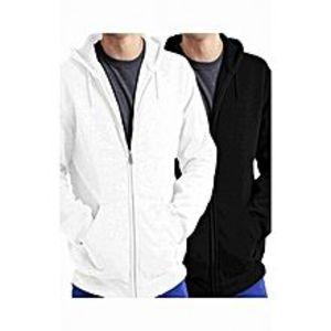 Shop All OnlinePack Of 2 - Black Fleecs Zipper Hoodies For Men