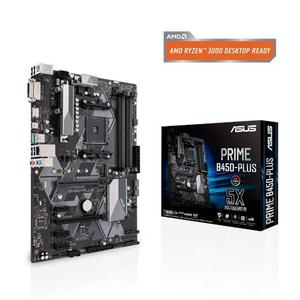 Prime B450 Plus AMD AM4 ATX motherboard with Aura Sync RGB header and DDR4 3466MHz support
