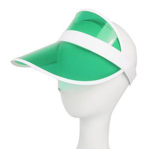 Fashion Summer Outdoor Sports Sun Protection Cap Unisex Clear Plastic Visor Hat