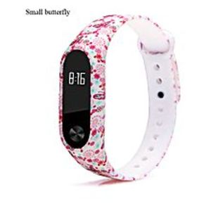 SJ DIGITAL STORE Mi Band 2 Strap - Butterfly Design - Soft High Quality Tpu