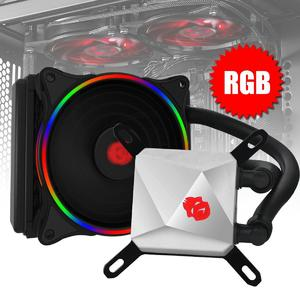 Gaming Computer 120mm CPU Water Liquid Cooler Cooling Fan RGB LED FOR INTER AMD