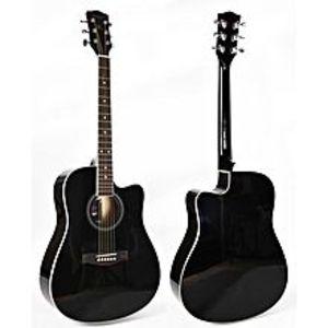 Forbes StoreBlack 40 inch cutaway linden body acoustic guitar