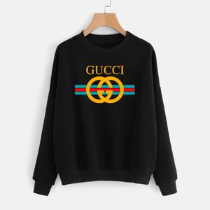 Black Printed Winter Unisex Sweatshirt