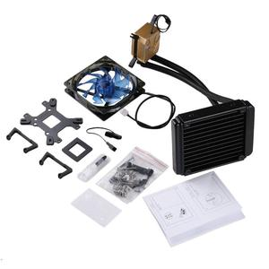 TE LESHPX001 Liquid Water Cooler Desktop Fan Radiator Kit 120x120x25mm Fan Black & Blue