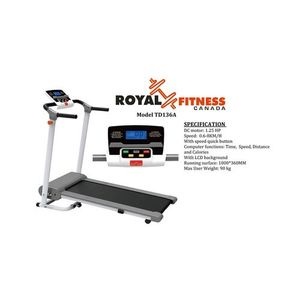 TD-136A Motorized Jogging Treadmill Machine For Exercise - 2HP - White