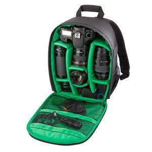 DL-B028 Portable Casual Style Waterproof Scratch-proof Outdoor Sports Backpack SLR Camera Bag Phone Bag for GoPro, SJCAM, Nikon, Canon, Xiaomi Xiaoyi YI, iPad, Apple, Samsung, Huawei, Size: 27.5 * 12.5 * 34 cm(Green)
