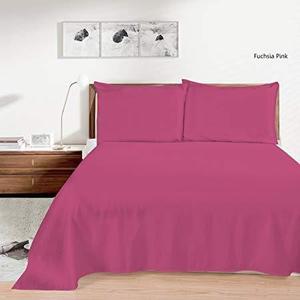 Plain Dyed Bedsheet - Fuchsia Pink - Single