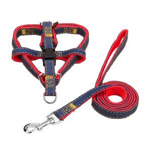 2PCS/SET Pet Dog Nylon Harness Rope Cord Walking Leash Traction Belt