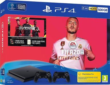 PS4 SLIM 500 GB + FIFA 20 + DOUBLE CONTROLLER BUNDLE
