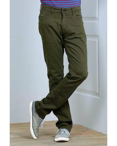 Lt.Brown Semi Chino Jeans For Men.28