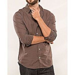 DenizenBrown Cotton Woven Shirt for Men Special Online Price