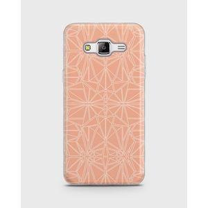 Samsung Galaxy Grand Prime Plus Soft Cover Kaleidoskop - Peach - 1cover527