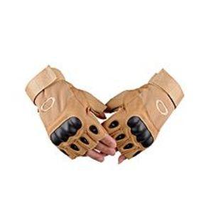 Green Home'sTactical Half Finger Gloves For Men ? Brown