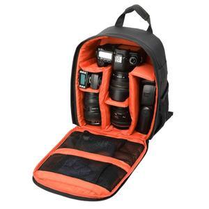 DL-B028 Portable Casual Style Waterproof Scratch-proof Outdoor Sports Backpack SLR Camera Bag Phone Bag for GoPro, SJCAM, Nikon, Canon, Xiaomi Xiaoyi YI, iPad, Apple, Samsung, Huawei, Size: 27.5 * 12.5 * 34 cm(Orange)