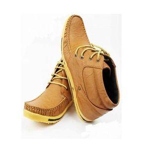Mustard Rubber Sneakers For Men