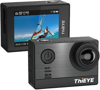 ThiEYE T5e WiFi Sport Camera Ultra 4K HD16MP Sony Sensor/Ambarella Chipset Action Video Cam Compatible with External Mic,197FT Waterproof 170 Wide Angle App Control